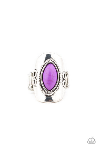 Paparazzi Accessories PLAIN Ride Purple Ring