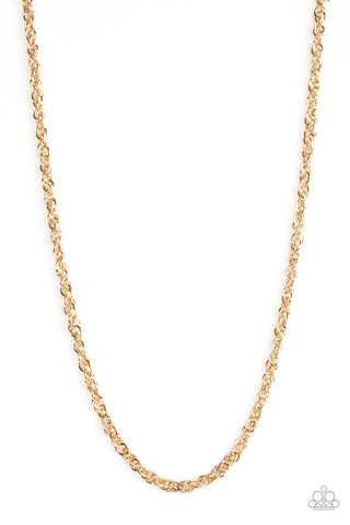 Paparazzi Accessories Lightweight Division Gold Necklace