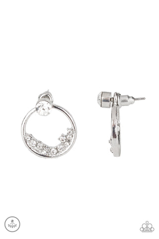 Paparazzi Accessories Rich Blitz White Earrings