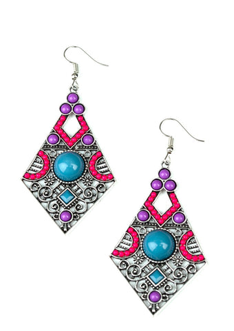 Paparazzi Accessories Malibu Meadows Multi Earrings