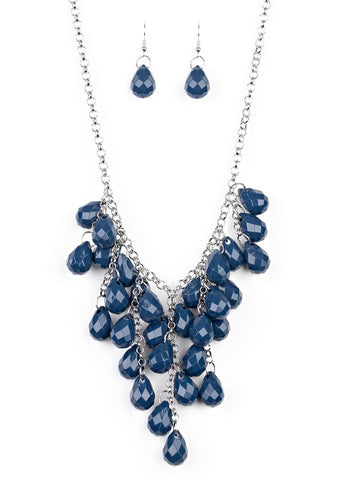 Paparazzi Accessories Serenely Scattered Blue Necklace Set