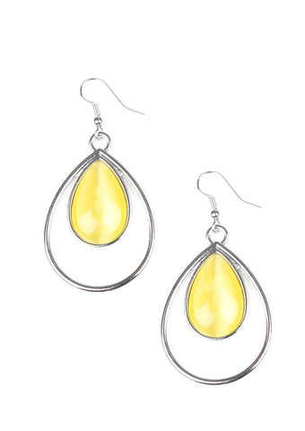Paparazzi Accessories Color Me Cool Yellow Earrings