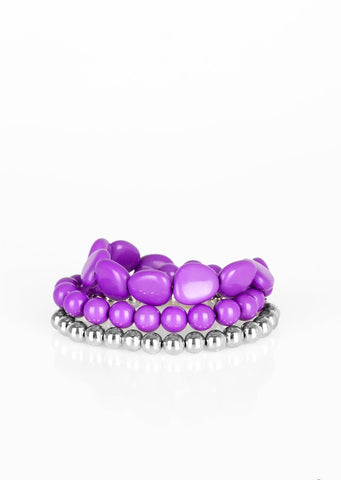 Paparazzi Accessories Color Venture Purple Bracelet