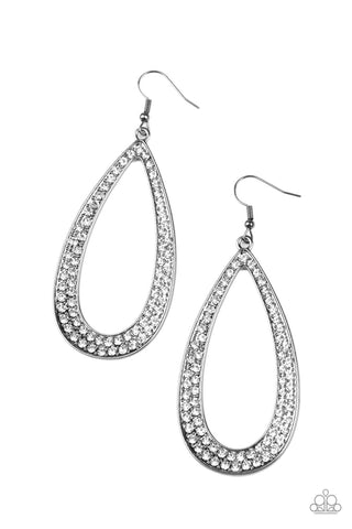Paparazzi Accessories Diamond Distraction Black Earrings
