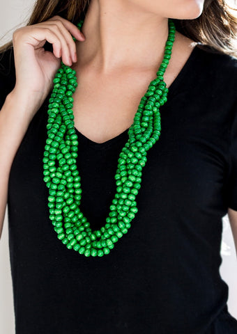 Paparazzi Accessories Tahiti Topic Green Necklace Set
