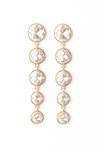 Paparazzi Accessories Drippin In Starlight Gold Earrings