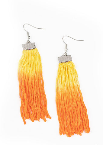 Paparazzi Accessories Dual Immersion Yellow Earrings
