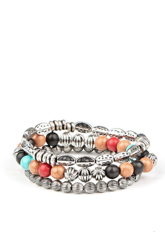 Paparazzi Accessories Trail Mix Mecca Multi Bracelets