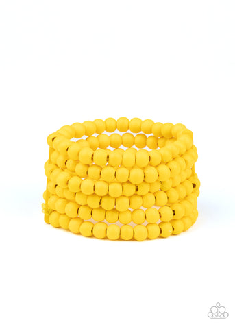 Paparazzi Accessories Diving in Maldives Yellow Bracelet