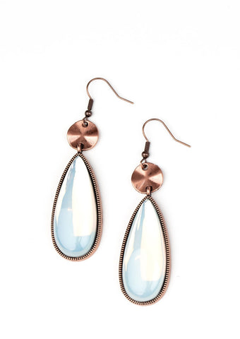 Paparazzi Accessories Jaw-Dropping Drama Copper Earrings