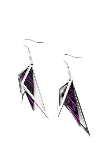 Paparazzi Accessories Evolutionary Edge Purple Earrings