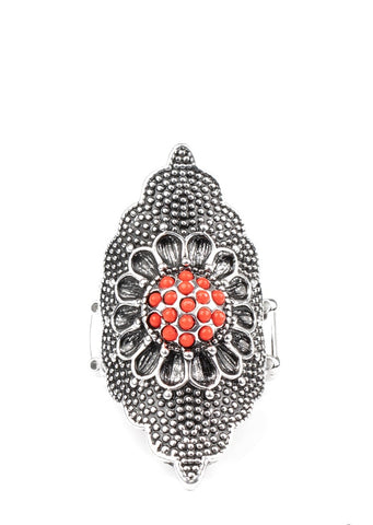 Paparazzi Accessories Wildly Wallflower Red Ring
