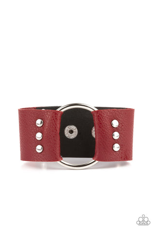 Paparazzi Accessories Moto Mayhem Red Bracelet