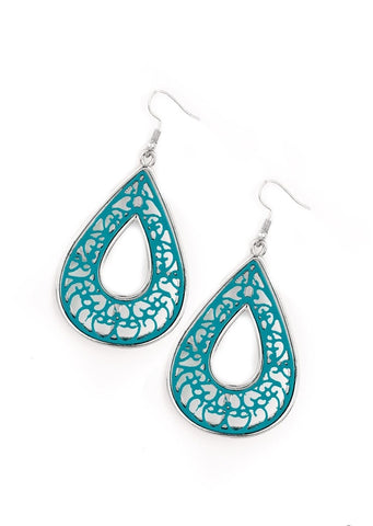 Paparazzi Accessories Drop Anchor Blue Earrings