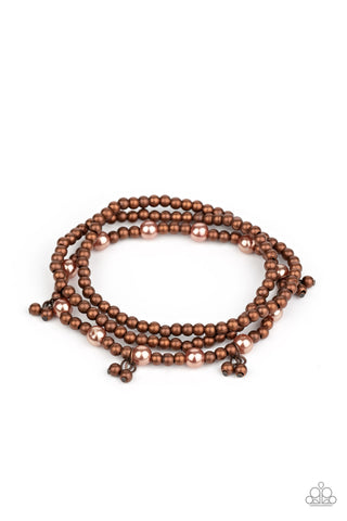Paparazzi Accessories GRANDIOSE Slam Copper Bracelet