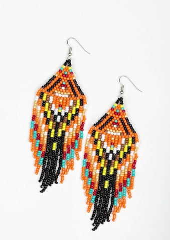 Paparazzi Accessories Blast Black Multi Earrings