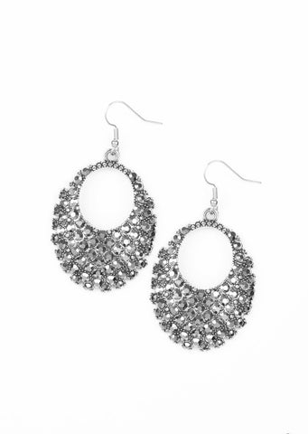 Paparazzi Accessories Fierce Flash Silver Earrings