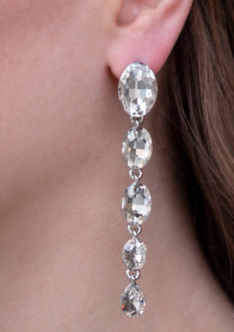 Red Carpet Radiance White Earrings