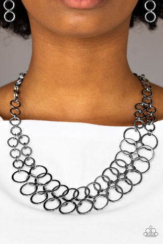 Paparazzi Accessories Metro Maven Black Necklace Set
