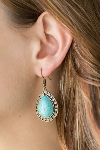 Paparazzi Accessories Sahara Serenity Turquoise Earrings