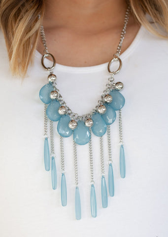 Paparazzi Accessories Roaring Riviera  Blue Necklace Set