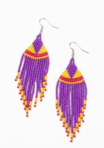 Paparazzi Accessories BEADazzle Me Purple Earrings
