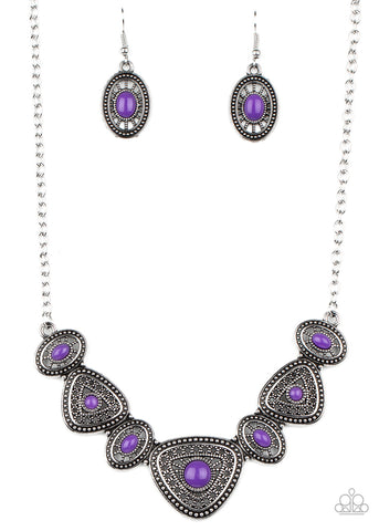 Paparazzi Accessories Totally TERRA-torial Purple Necklace Set
