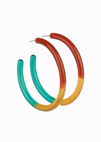 Paparazzi Accessories Awesome Aura Red Multi Hoop Earrings