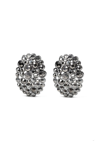 Paparazzi Accessories Daring Dazzle Black Earrings