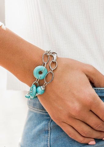 Paparazzi Accessories Absolutely Artisan Turquoise Stone Bracelet