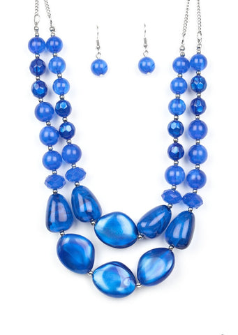 Paparazzi Accessories Beach Glam Blue Necklace Set