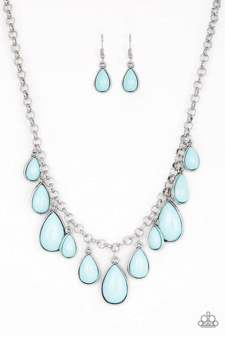 Paparazzi Accessories Jaw-Dropping Diva Blue Necklace Set