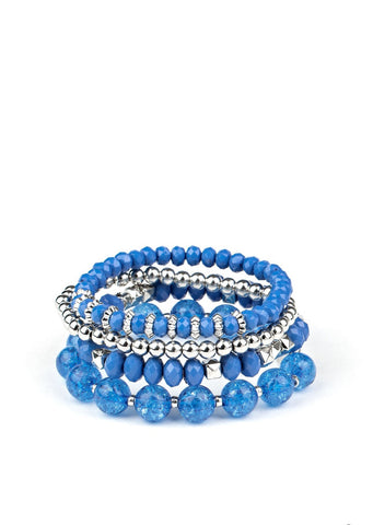 Paparazzi Accessories Layered Luster Blue Bracelet
