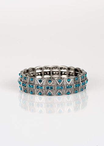 Paparazzi Accessories Modern Magnificence Blue Bracelet