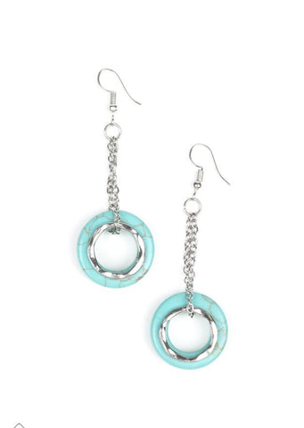 Paparazzi Accessories Mojave Oasis Blue Earrings