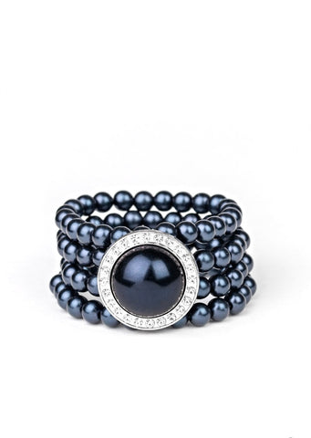 Paparazzi Accessories Top Tier Twinkle Blue Bracelet