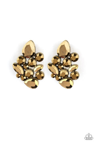 Paparazzi Accessories Galaxy Glimmer Brass Earrings