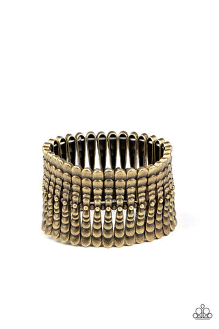 Paparazzi Accessories Level The Field Brass Bracelet
