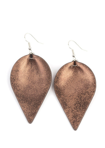 Paparazzi Accessories Enchanted Shimmer Brown Earrings