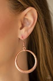 Paparazzi Accessories Modern Shimner Copper Earrings
