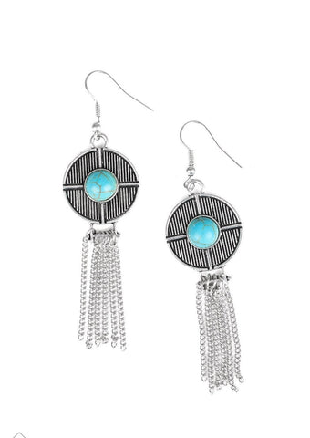 Paparazzi Accessories Desert Voyage Turquoise Earrings