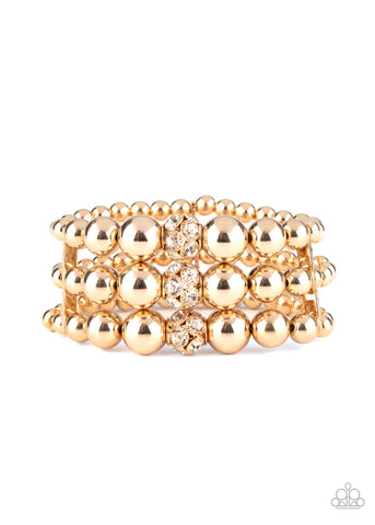 Paparazzi Accessories Icing On The Top Gold Bracelet
