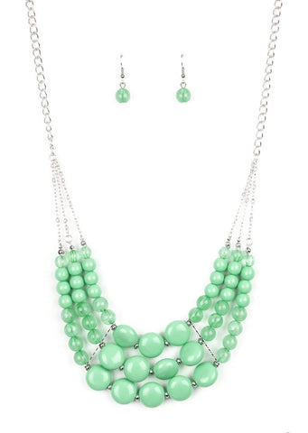 Paparazzi Accessories Flirtatiously Fruity Green Necklace Set