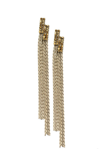 Paparazzi Accessories Radio Waves Brass Earrings