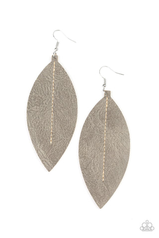 Paparazzi Accessories Naturally Beautiful Silver Earrings