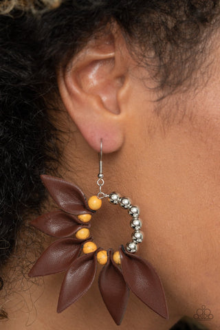 Paparazzi Accessories Flower Child Fever Orange Earrings