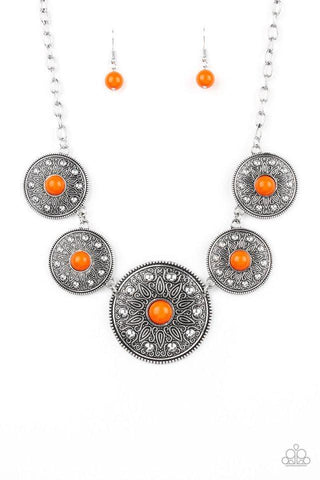 Paparazzi Accessories Hey, SOL Sister Orange Necklace Set