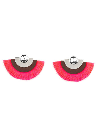 Paparazzi Accessories Fan The FLAMBOYANCE Pink Earrings