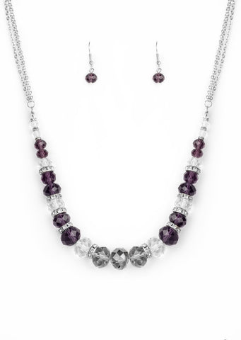 Paparazzi Accessories Distracted by Dazzle Purple Necklace Set