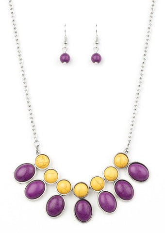 Paparazzi Accessories Environmental Impact Purple Necklace Set